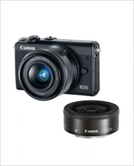 Canon M100 15-45mm & 22mm--